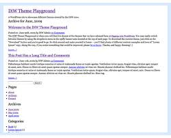 blank wordpress theme digging into wordpress