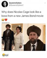 What Movie Is The Nicolas Cage Meme From - queenofjokes why does nicolas cage look like a boss from a new james