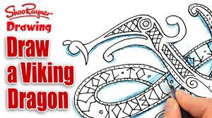 how to draw a viking dragon spoken tutorial youtube