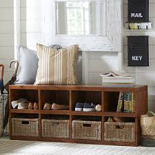 Bench With Baskets Blackwell Storage Bench U0026 Reviews Birch Lane