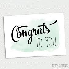 congratulations card printable congratulations card graduation card mint and