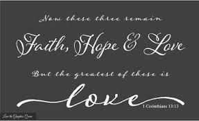 Chalkboard Love And Hope Anchors - wall decal religious faith hope love the greatest of these is love