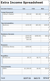 Income Tracker Spreadsheet Track Your Variable Income With The Income Spreadsheet