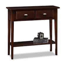 Sofa Tables With Drawers by Leick Hall Console Sofa Table Chocolate Cherry Hayneedle