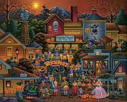 thomas kinkade halloween halloween jigsaw puzzles for adults bewitching spooky halloween fun