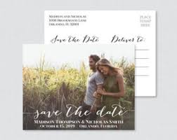 wedding invitations and save the dates save the date postcard etsy
