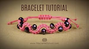 bracelet diy easy images Diy easy wave bracelet with beads macrame school jpg