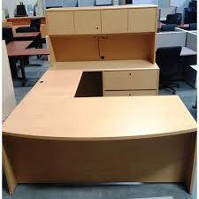 Desk U Shaped Used U Shaped Maple Desk W Hutch New Office