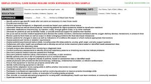 Registered Nurse Resume Example by Critical Care Register Nurse Resume Idr Group