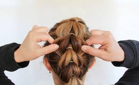hairstyles using rubber bands how to create a french pull through braid