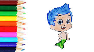bubble guppies draw and color drawing and coloring gil from