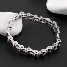 titanium steel bracelet images Biker bicycle motorcycle chain bracelet bangle punk titanium steel jpg