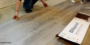 what color of vinyl plank flooring goes with honey oak cabinets why we chose lifeproof vinyl flooring and how to install it