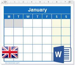 2016 calendar with uk holidays ms word