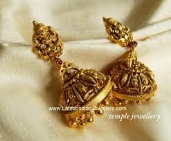 kerala style jhumka earrings 133 best south indian bridal jumiki images on