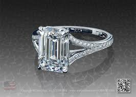 emerald cut solitaire engagement rings emerald cut solitaire platinum engagement ring with split