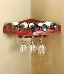 attractive mounted wine glass rack new corner wall mount wine