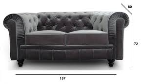canapé chesterfield cuir gris canapé chesterfield royal 2 places velours gris canapé
