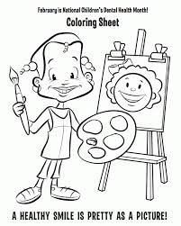 dental coloring pages for kids coloring home
