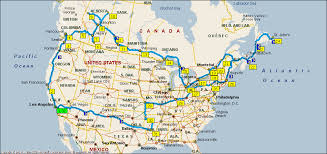 road map canada american and canadian road trip 2011 invisible
