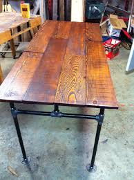 Seeking Stain Cast Barn Wood Fir And Cast Iron Pipe Desk Pipe Desk Iron Pipe And
