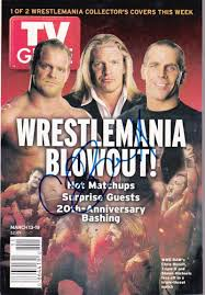 san angelo tv guide chris benoit signed tv guide 2004 wwe wwf wrestlemania authentic