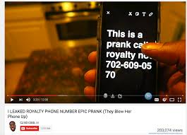 that time a semi famous youtube star leaked my cell phone number