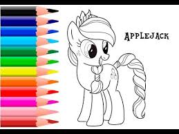 pony coloring pages kids apple jack coloring book