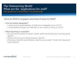 outsourcing trends in nonprofit investment management ppt download