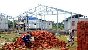 Global Houses 100 Houses Under Construction In Kyaukpandu Global New Light Of