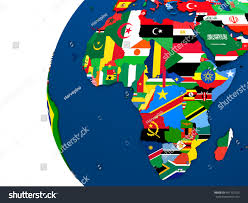 Political Map Africa by Political Map Africa Each Country Represented Stock Illustration