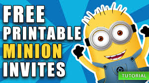 diy minion invitations diy free printable minion birthday invite how to