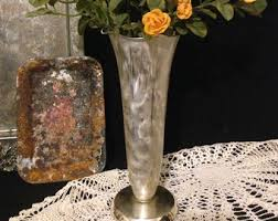 Metal Vases For Centerpieces by Fluted Vase Etsy