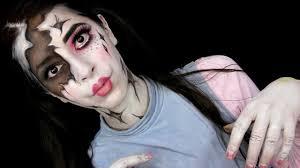 broken doll halloween makeup tutorial youtube