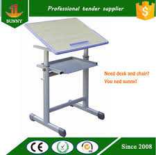 top drafting table wood top drafting table with plastic injection molding edge sealing