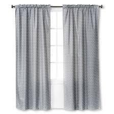 Black Curtain Light Blocking Curtain Panel Gray Chevron 42x84 Room