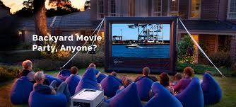 Backyard Movie Party by Outdoor Cinema Hire Smart Digital