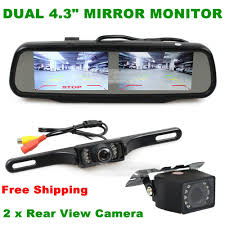 wireless 5 inch tft lcd car monitor led night vision rear view
