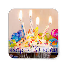 happy birthday candles happy birthday cupcake with candles square sticker zazzle