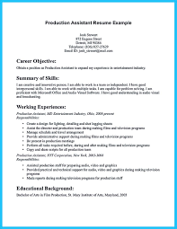 Production Assistant Resume Template Writing Your Assistant Resume Carefully