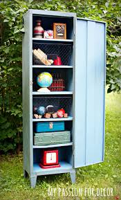 metal lockers for kids rooms my passion for decor old rusty smelly metal cabinet turned