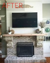 Living Room Red Brick Fireplace 10 Gorgeous Ways To Transform A Brick Fireplace Without Replacing