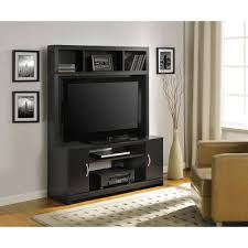 Home Center Decor by Ameriwood Home Woodland Entertainment Console Black Walmart Com