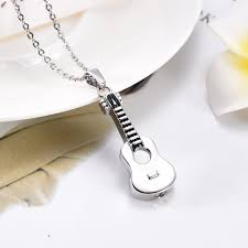 jewelry that holds ashes ijd7133 stainless steel guitar shape urn pendant necklace cremation