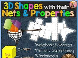 3d shapes worksheets sorting activities nets posters by
