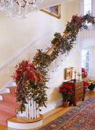 Christmas Banister Garland Ideas Best 25 Christmas Stairs Decorations Ideas On Pinterest