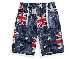Mens Flag Shorts Men U0027s Board Shorts British Flag Design Amazon Com