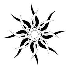 black white tribal sun design more more cross stitch kits