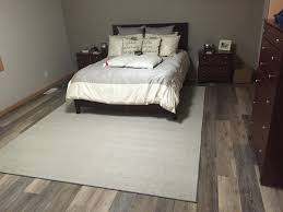 Vinyl Floor Basement Coretec Plus Xl Catalina Oak Modern Bedroom Large Open
