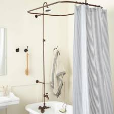 leg tub solid brass shower enclosure set bathroom